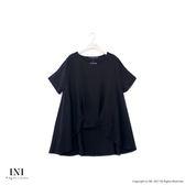 【INI】簡單俏麗、前短後長A字下擺上衣.黑色