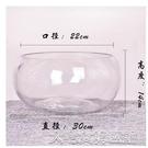 養殖箱烏龜缸辦公室小魚缸加厚透明玻璃烏龜缸客廳家用桌面圓形迷你小型金魚缸YJT 【快速出貨】