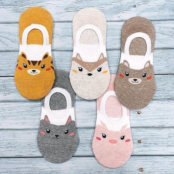 可愛動物 狐狸 兔子 韓襪 矽膠防滑隱形襪 船型襪 花想容
