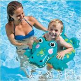 兒童游泳圈1歲3寶寶遮陽坐圈6座圈嬰幼兒加厚浮圈小孩腋下圈   良品鋪子