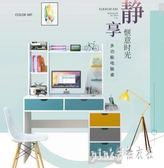 電腦桌北歐簡約臺式書桌家用辦公桌學生家用臥室簡易寫字桌 js12163『Pink領袖衣社』