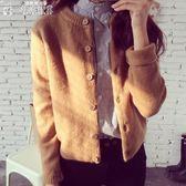 針織外套秋裝女裝針織衫開衫正韓寬鬆外搭毛衣秋冬女士短款上衣外套厚