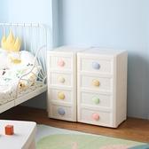 多層收納櫃兒童寶寶衣櫃五層塑料抽屜式收納櫃子儲物櫃夾縫置物櫃 【ifashion】
