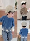 男童上衣童裝兒童冬裝毛衣韓版寶寶圓領套頭上衣男童水貂絨針織衫潮童趣屋促銷好物