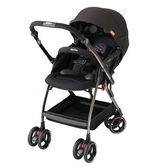 Aprica愛普力卡 Optia新視野 四輪自動定位導向型嬰幼兒手推車 (酷點黑)