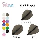 【Fit Flight】F Shape/Rocket/W Shape 素色 6pcs 鏢翼 DARTS