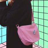 原宿軟妹單肩包容量大的包包斜背包女 韓版學生學院風側背包 【快速出貨】