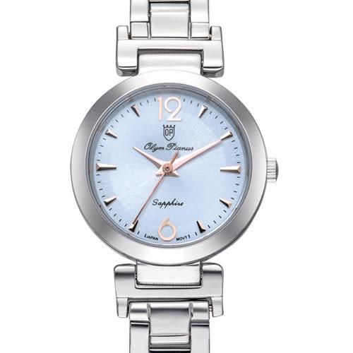 Olym Pianus奧柏表 想樂份子流行簡約腕錶-藍/24mm