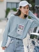 純棉長袖t恤女裝2020秋裝新款薄款學生韓版寬鬆早秋上衣ins超火 依凡卡時尚