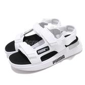 Puma 涼鞋 Future Rider Sandal 白 黑 男鞋 女鞋 涼拖鞋 魔鬼氈【PUMP306】 37231802