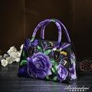 民族風包包新款中年女包小包繡花刺繡斜背包手提包側背包帆布 黛尼時尚精品