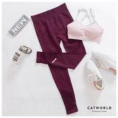 Catworld 割破感反光條褲腳彈力運動褲【12001921】‧S-XL