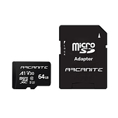 ARCANITE 64G microSD U3 V30 A1記憶卡+轉卡【愛買】