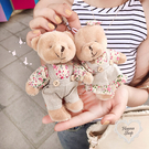《花花創意会社》日單。卡哇伊情侶小熊吊飾匙圈【H6567】