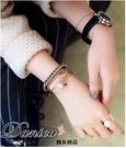 手鍊 現貨 韓國時尚個性鍊條絨布珍珠3件...