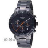 ALBA雅柏日系休閒計時腕錶-黑