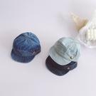 個性洗舊刷色牛仔軟帽沿銅釦軍帽 帽子 遮陽帽 男童 女童 中性款 橘魔法 現貨