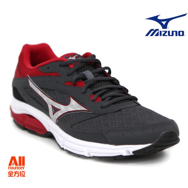 【Mizuno美津濃】男款慢跑鞋 WAVE SURGE -鐵灰紅 (J1GC171304)全方位跑步概念館