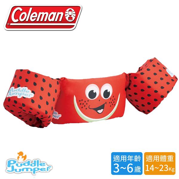 【Coleman 美國 兒童手臂型浮力衣《西瓜》】33967/浮力背心/救生衣/游泳圈/救生圈