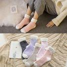 地板襪 毛巾襪  珊瑚加絨加厚毛襪 保暖中筒毛襪【B7126】