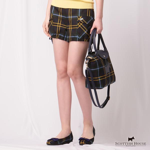 兩側大口袋造型格紋短褲 Scottish House【AD2205】