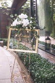 歐式鐵藝油畫架相框架落地支架婚禮迎賓展示架廣告海報架托架婚慶