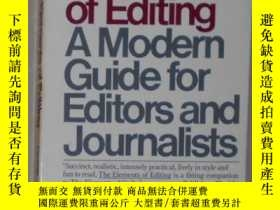 二手書博民逛書店英文原版罕見The Elements of Editing by