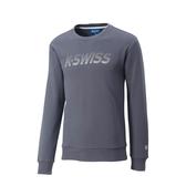 K-SWISS Crew Neck Sweatshirt圓領長袖上衣-男-灰