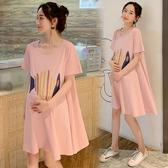孕婦韓版寬鬆洋裝 孕婦連身裙