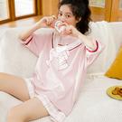 睡衣 新女夏季薄款短袖純棉學生家居服女韓版全棉兩件套裝夏天 - 風尚3C