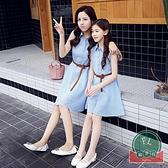 韓版顯瘦母女裝連身裙百搭休閒親子裝【聚可爱】