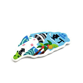 【收藏天地】台灣紀念品*PVC景點系列冰箱貼-墾丁