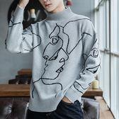 毛衣男女情侶裝線衣韓版秋冬季學生寬鬆個性刺繡·皇者榮耀3C旗艦店