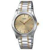 【CASIO】 輝煌時尚紳士金銀指針腕錶-羅馬金面(MTP-1275SG-9A)