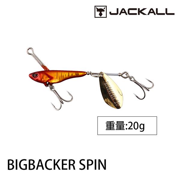 漁拓釣具 JACKALL BIG BACKER SPIN 20g (小鐵魚亮片)