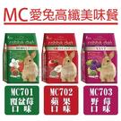 [寵樂子]Rabbit Diet兔飼料》MC愛兔窈窕美味餐(MC701/MC702/MC703)