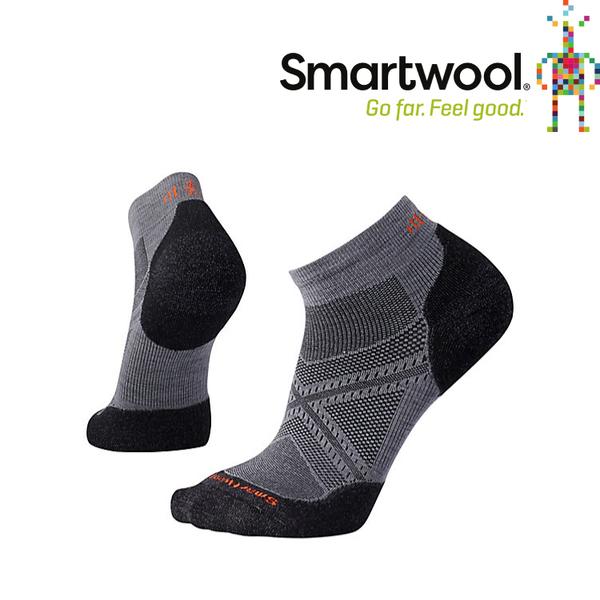 【SmartWool 美國 男款 PhD 菁英減震型跑步低筒襪《石墨灰》】SW0SW243/排汗襪/保暖襪/抗臭襪