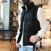 棉馬甲男士 冬季坎肩保暖背心 潮工裝棉服羽絨棉馬甲外套情侶上衣男