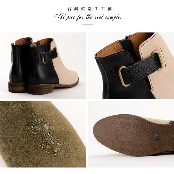 3M防潑水 時間的影子撞色短靴。Bubble Nara波波娜拉。超輕量低跟靴,雨天完勝 NA66-22