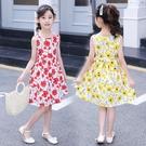女童洋裝 女童連身裙夏季正韓中大兒童棉布裙小孩洋氣露肩公主裙子-Ballet朵朵