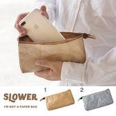 Hamee 日本 SLOWER BAG 牛皮紙袋造型 強韌不織布 防潑水 手機包 收納袋 (任選) 649-545061