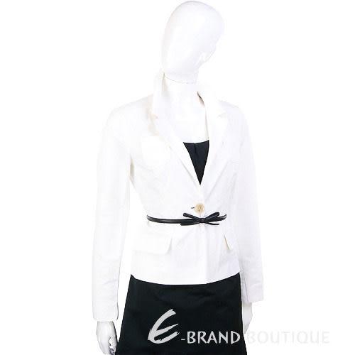 SCHUMACHER 白色口袋西裝外套(不含腰帶) 1010503-20