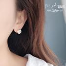 Hoax.925純銀三角鑽纏繞絲穿針式耳...
