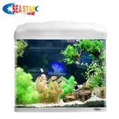 海星魚缸水族箱 生態創意魚缸客廳小型迷你玻璃桌面熱帶金魚缸LED   麻吉鋪