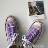 雀斑君 ins彩繪臟臟鞋潑墨噴漆帆布鞋女2020秋季百搭港味學生板鞋 依凡卡時尚