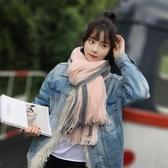 圍巾女冬季針織韓版百搭加厚秋冬毛線少女男學生軟妹情侶簡約圍脖 東京衣櫃