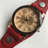 戶外手錶-復古情侶手錶石英錶真皮錶帶戶外時尚簡約個性另類男女腕錶創意 東川崎町