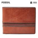 FOSSIL EASTON 基本款RFID防盜實用皮夾-咖啡色 SML1434914