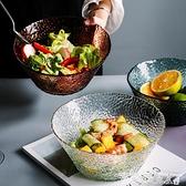 沙拉碗日式透明玻璃碗單個學生創意個性斗笠網紅北歐大號餐具水果沙拉碗迷你屋 迷你屋 新品