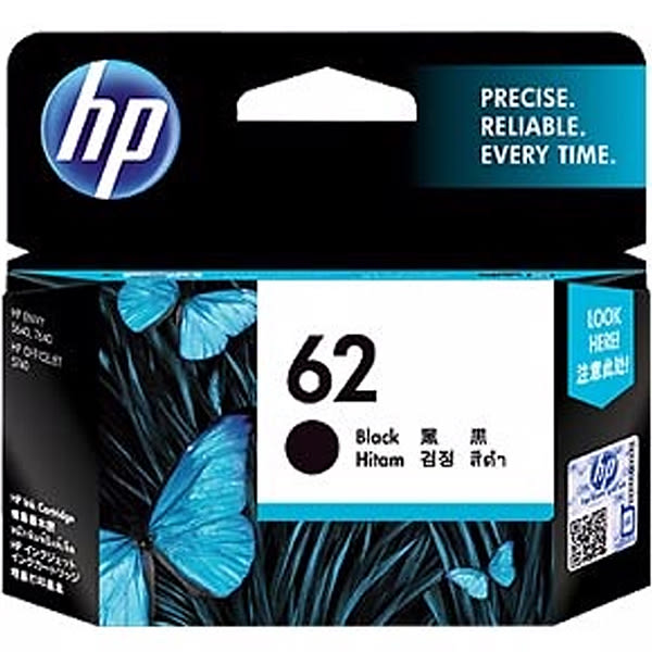 C2P04AA HP NO.62 原廠黑色墨水匣 適用機型:ENVY 5540 / 5640 / 7640 ; OfficeJet 5740 / 200 / 250